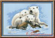 """Набор для вышивания 1033 """"Белые медведи"""" 60х40см"""