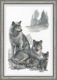 """Набор для вышивания 100-021 """"Волки"""" 40х60см"""