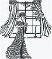 "Набор для вышивания 131 ""Дама у окна"" 34х38см"