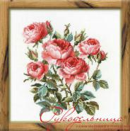 """Набор для вышивания 1046 """"Садовые розы"""" 40х40см"""