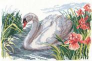 """Набор для вышивания 1-02 """"Белый лебедь"""" 32х22см"""