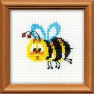 """Набор для вышивания 1111 """"Пчелка"""" 10х10см"""