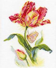 """Набор для вышивания 2-14 """"Тюльпан и бабочка"""" 19х25см"""