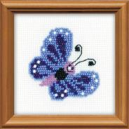 "Набор для вышивания 1110 ""Бабочка"" 10х10см"