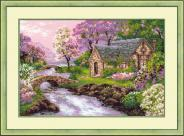 "Набор для вышивания 1098 ""Весенний пейзаж""38х26см"