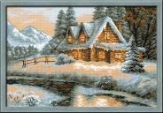 "Набор для вышивания 1080 ""Зимний пейзаж"" 38х26см"
