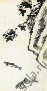"""Набор для вышивания 03.018.04 """"Цветок, скала и две рыбки"""" 16х30с"""