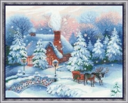 "Набор для вышивания 100-041 ""Накануне Рождества"" 45х35см"