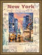 """Набор для вышивания РТ-0025 """"Города мира, Нью-Йорк"""" 30х40см"""