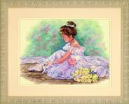 """Набор для вышивания 35245 """"Милая балерина"""""""