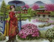 "Набор для вышивания 5678-1024 ""Японский сад"" 30х40см"