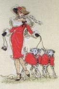"""Набор для вышивания 5678-1143 """"Танцы далматинов"""" 30х20см"""