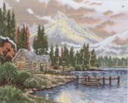 """Набор для вышивания 5678-1174 """"Дом у озера"""" 25х32см"""