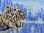 "Набор для вышивания 5678-1215 ""Тигрята"" 30х40см"