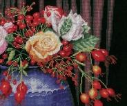 """Набор для вышивания 145756 """"Букет из роз и шиповника"""" 32,5х27см"""