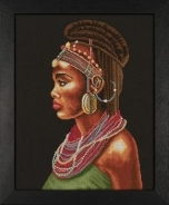 "Набор для вышивания 35075А ""Африканка"" 39х49см"