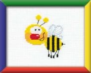 """Набор для вышивания НВ-001""""Пчелка""""16х13см"""