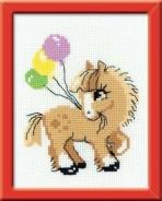 """Набор для вышивания НВ-093 """"Пони-Пончик"""" 15х18см"""