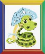 """Набор для вышивания НВ-125 """"Новогодняя змейка"""" 13х16см"""
