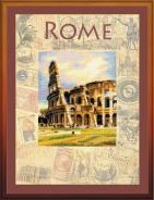 """Набор для вышивания РТ-0026 """"Города мира, Рим"""" 30х40см"""