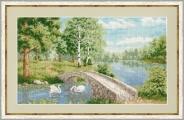 """Набор для вышивания ВМ-019 """"Лесное озеро"""" 21,6х36,6см"""