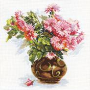 """Набор для вышивания 2-09 """"Цветущий сад. Хризантемки"""" 26х29см"""