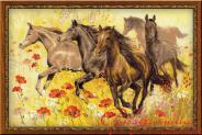 "Набор для вышивания 1064 ""Табун лошадей"" 60х40см"