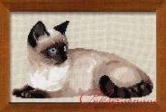"""Набор для вышивания 1066 """"Тайская кошка"""" 38х26см"""