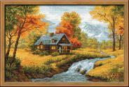 """Набор для вышивания 1079 """"Осенний пейзаж"""" 38х26см"""